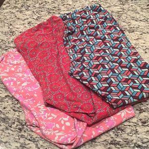 Three pair lula roe leggings